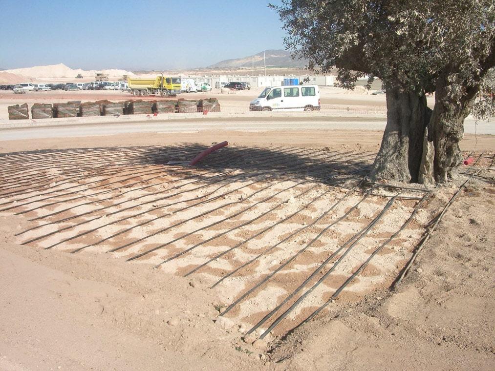 Instalacion riego por goteo enterrado